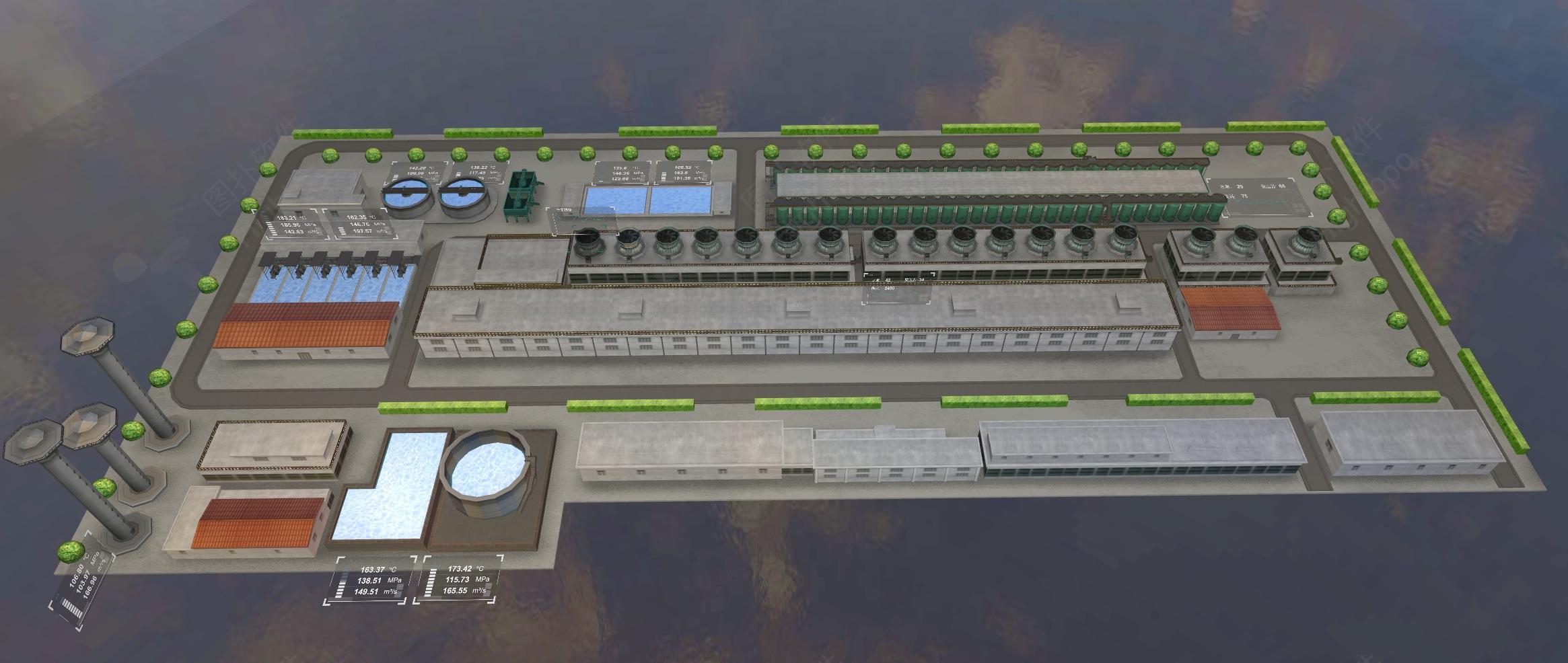3D水泵站监控系统